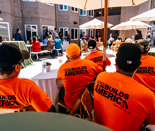 Union members who worked on the Esperanza refurb. Photos by Russ Levi Photography