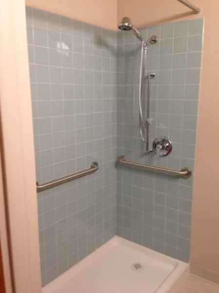 New faucets and showerheads at Esperanza Apartments are Watersense certified.