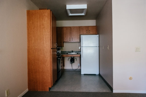 Esperanza Apartments' kitchens have been fully modernized with brand new granite countertops and natural wood cabinetry and Energy Star appliances