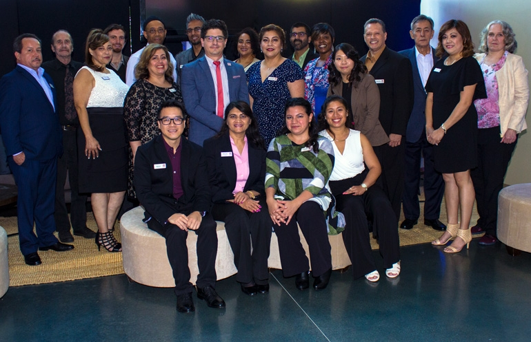 Mission Housing staff portrait from 2017 Gala